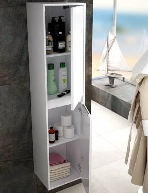 Columna baño blanca