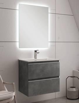 Ambiente baño con espejo LED 60 x 80 cm.