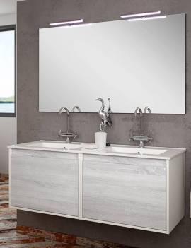 Espejo baño 120 cm. con dos apliques