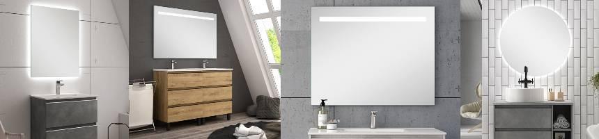 Espejo baño LED, espejos de baño con luz