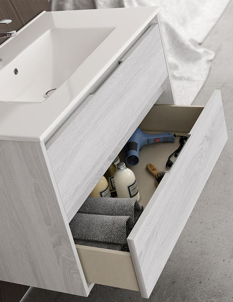Interior mueble baño cajones
