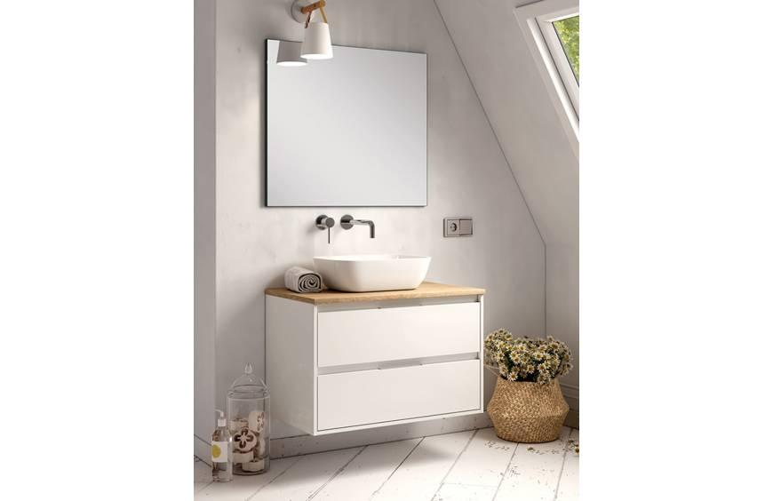 ¡Se llevan! Los muebles de baño en blanco y madera